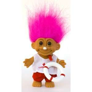 My Lucky LIFEGUARD Troll Doll (Pink Hair) Toys & Games