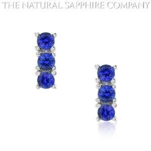 Natural Unheated Blue Sapphire Earrings (J3294) Jewelry