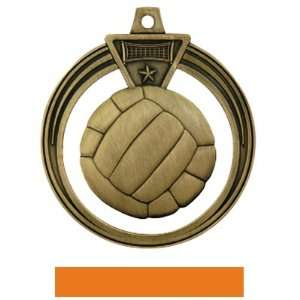 2.5 Eclipse Custom Volleyball Medal GOLD MEDAL / ORANGE