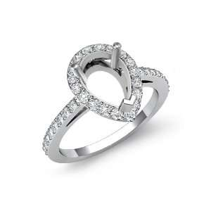 0.45 ct Round Cut Diamond Engagement Ring, F   G Color