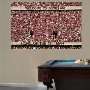 Texas A&M Fathead Wall Graphic 12th Man Mural  Sports