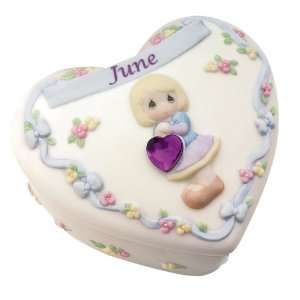 Precious Moments Birthday Heart Covered Box   June