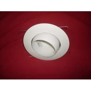 Raptor Lighting 6 Inch White Eye Ball Recessed Trim with White Baffle