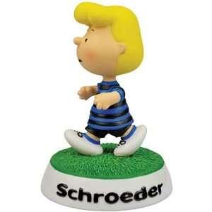Walking Schroeder Wearing Blue/Black Striped Shirt Decorative Figure