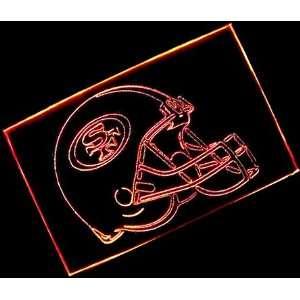 NFL  San Francisco 49ers Helmet Neon Light Sign (Red)