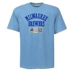 Milwaukee Brewers Cooperstown Double Switch Mens Oversized T Shirt