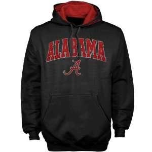 Alabama Crimson Tide Black Classic Twill Pullover Hoody