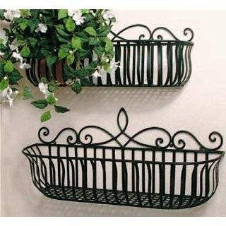 Victorian Design Window Planter Box Antique Green Patio