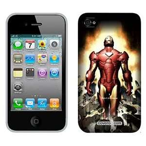 Iron Man Breaking on Verizon iPhone 4 Case by Coveroo