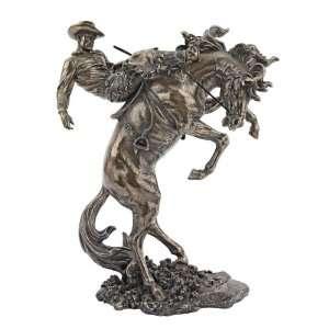 American Classics Faux Bronze Bronco Buster Cowboy Horse Sculpture