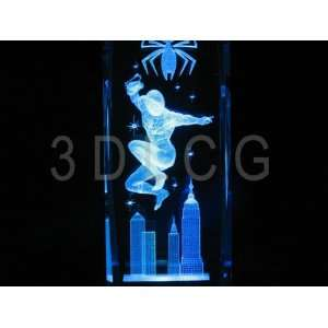 Spider Man 6 Inch 3D Laser Etched Crystal