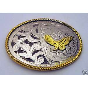 Flying Eagle Hawk Wild Bird of Prey Western Belt Buckle