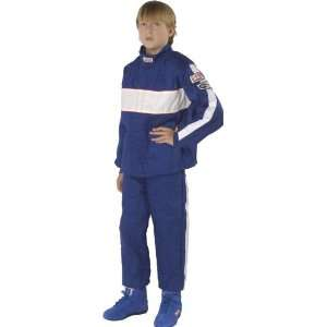 GF 105 Blue Child Medium Single Layer Racing Jacket Automotive