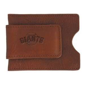 San Francisco Giants Tan Soft Leather Money Clip  Sports