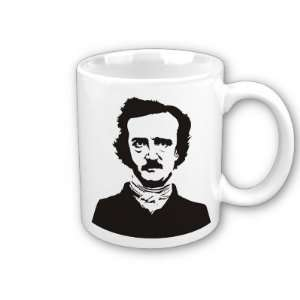 Edgar Allen Poe Stencil Art Coffee, Tea, Hot Coco Mug