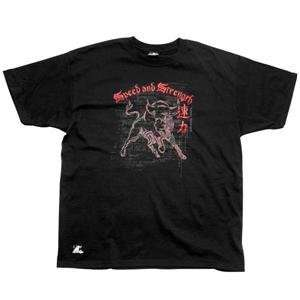 Speed and Strength Off the Chain T Shirt   Large/Black Automotive