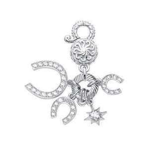 CleverEves Sterling Silver Horse Shoes Charm CleverEve Jewelry