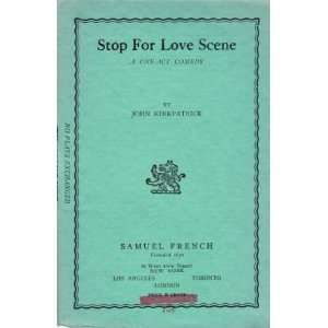 Stop for love scene, a one act comedy, Books