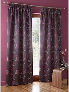 Linea Puff flower plum curtain range   House of Fraser
