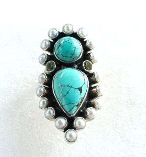 NICKY BUTLER TURQUOISE S.S. RING SIZE 6   RAJ! LE#