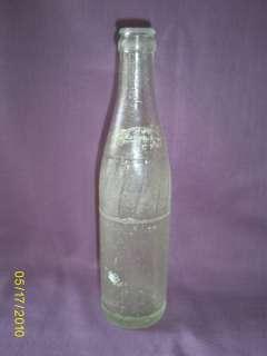 Vintage Pepsi Cola Glass Bottle Anchor Hocking 10 Oz.