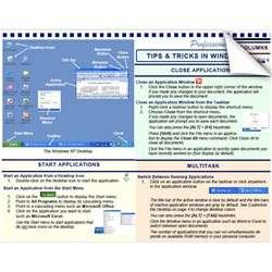 Microsoft Windows XP Tip Tips Tricks Cheat Sheet Learn Train Training