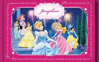 Disney Princess Personalised Placemats