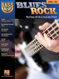 Blues Rock   Hal Leonard Bass Play Along Vol 18 Book/CD