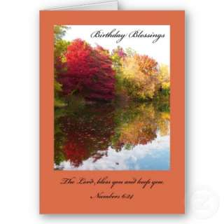 Christian Birthday Card    The Lord Bless You  Zazzle.co.uk
