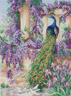 16X12 14 Count The Peacock Counted Cross Stitch Kit M1027