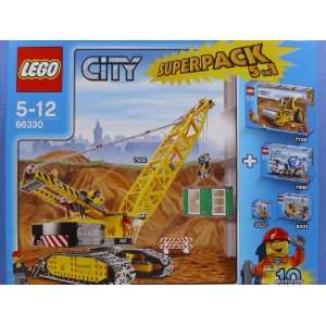 Lego   City   66330   Mega Construction Site   with 7632 Crawler Crane