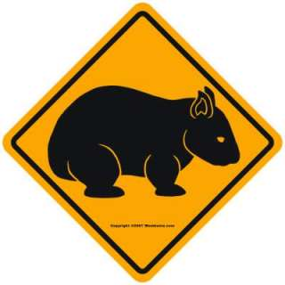 Traditional wombat sign design without text for those who know their