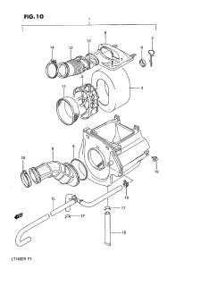 OEM Parts Suzuki QuadRunner (LT160E) 1990 AIR CLEANER   Cheap Cycle