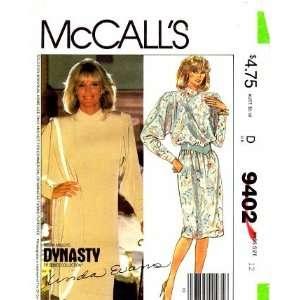 McCalls 9402 Dynasty Linda Evans Nolan Miller Misses Dress Tunic