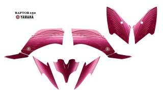 YAMAHA Raptor 2500 Atv Graphic Decal Kit 8200 Pink