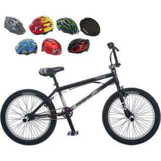 Mongoose Entrail 20 Boys BMX Bike & Helmet Value Bundle