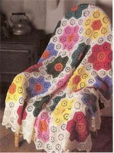 Grandmothers Flower Garden Afghan Crochet Pattern