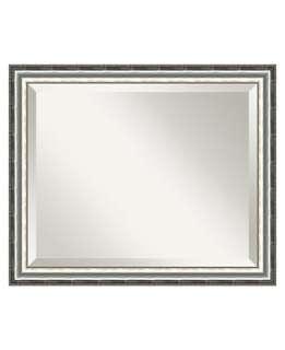 Amanti Art SoHo Silver Wall Mirror, Medium   Mirrors Home Decor   for