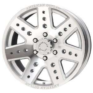 American Outlaw Apache Series Silver Wheel (17x8.5/8x165
