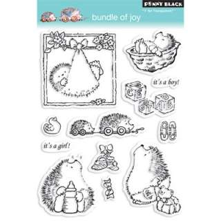 BUNDLE OF JOY Penny Black Clear Stamps Critter/Hedgehog