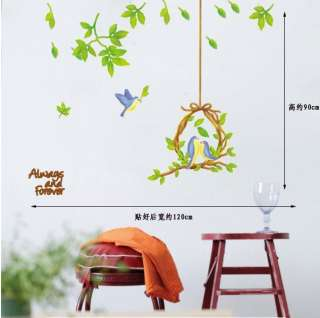 Flower Bird Cage DIY Art Decor Vinyl Wall Paper Sticker Decal 222