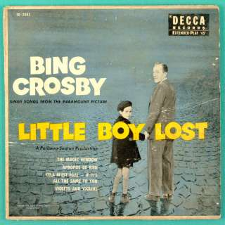 BING CROSBY OST LITTLE BOY LOST JAZZ BIG BAND EP USA