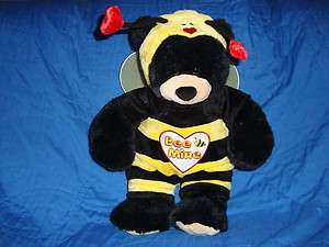 Build a Bear valentines day Bee Mine Bumble Bee Outfit & 17 Black