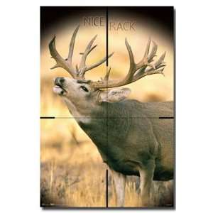 BIG BUCK DEER HUNT POSTER 20 NICE RACK GUN NEW 9291: Home