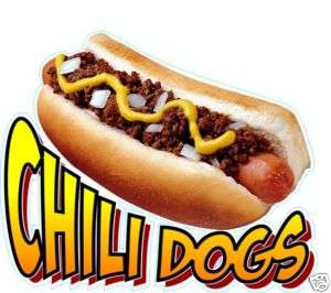 Chili Dog Hot Dogs Decal 10 Concession Food Vendor