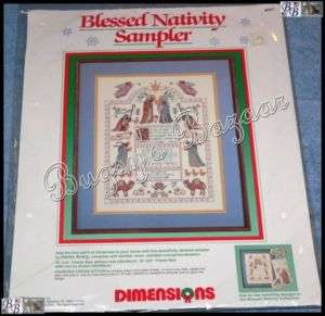 BLESSED NATIVITY SAMPLER Christmas Counted Cross Stitch Kit  K. Avery