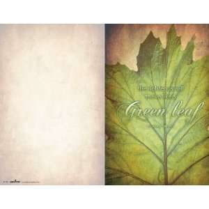 Church Bulletin   Green Leaf   100 pack