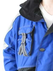 DESCENTE MANS BLACK BLUE AND SILVER RACING SKI TEAM JACKET COAT~S