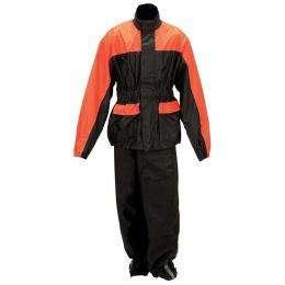 Diamond Plate™ Motorcycle Rain Suit; S/M, L/XL, 2X/3X