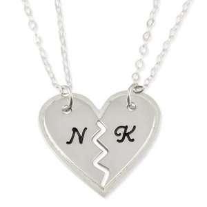 Necklace Best Friend BFF Breakable Heart Pendant   Two Heart Pendants